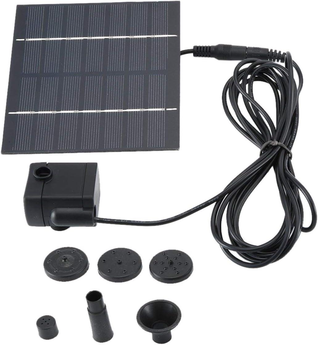 Fuente Decorativa Solar Fuente Solar para jard/ín Negro Piscina Bomba de Agua Monllack Panel Solar Motor sin escobillas jard/ín Fuente Flotante de energ/ía Solar