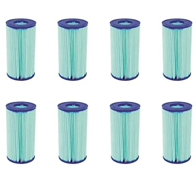 Bestway Flowclear Anti Microbial Type III, A/C Pool Filter Cartridge (8 Pack) : Garden & Outdoor