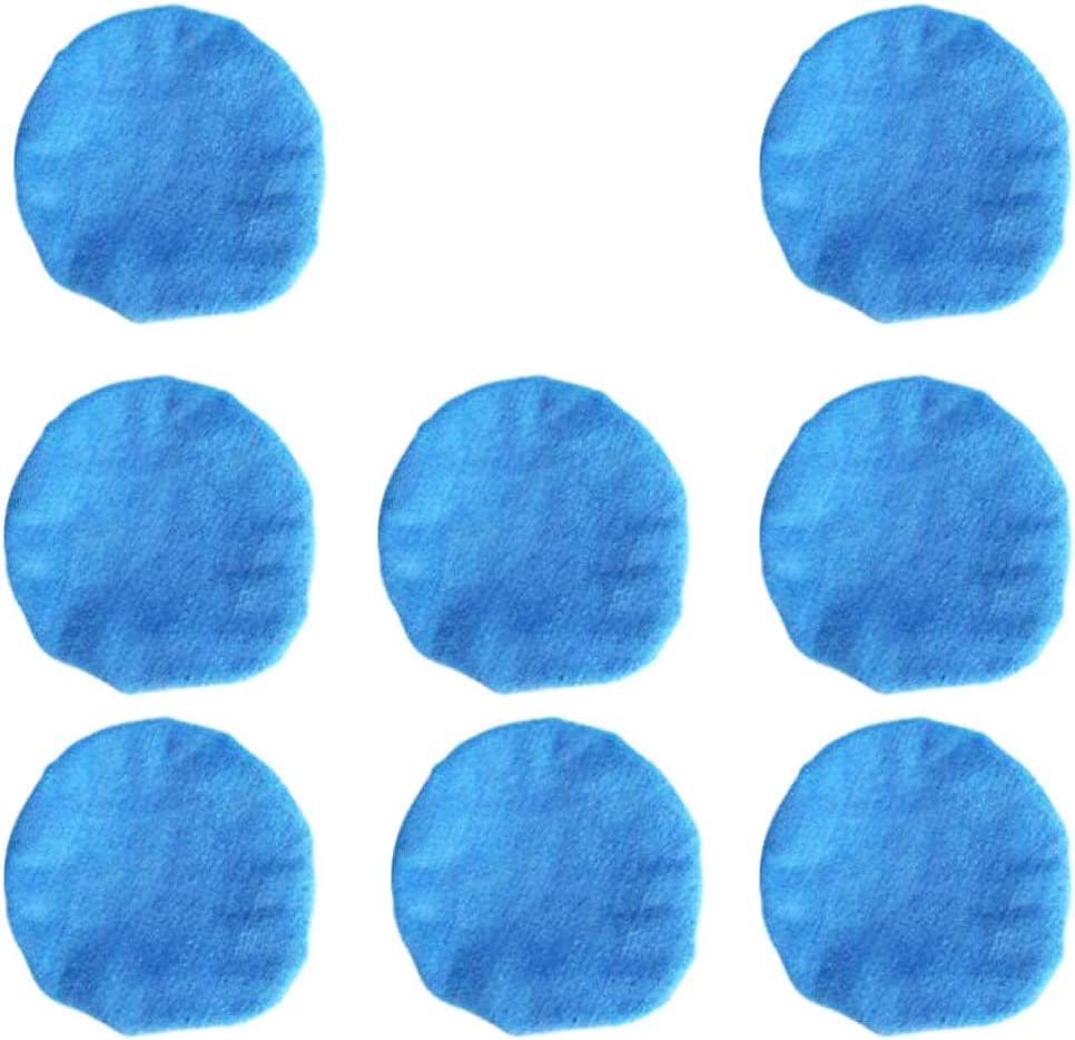 5 to 6 Inches KingBra Car Polisher Bonnet Pads 8Pcs Soft Microfiber Polishing Bonnet Buffing Pad Cover Car Care Microfiber Applicator Pads Waxer Pads for Car Polisher Car Wood Stone