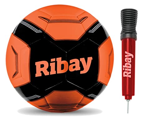 ribay Balón de fútbol Tamaño 5 + Bomba: Amazon.es: Deportes y aire ...