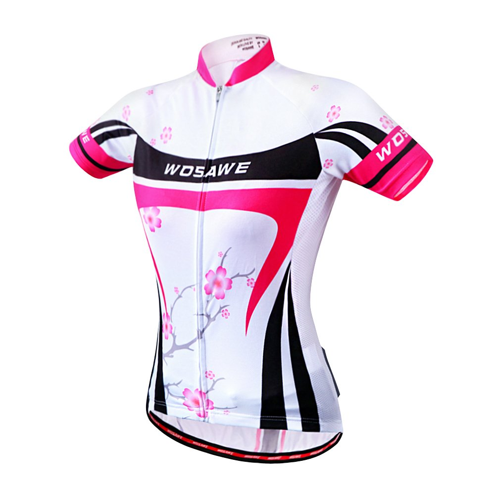 WOSAWE 2016 Women Short Sleeve Cycling Jersey 4D Gel Padded Shorts MTB Sportswear