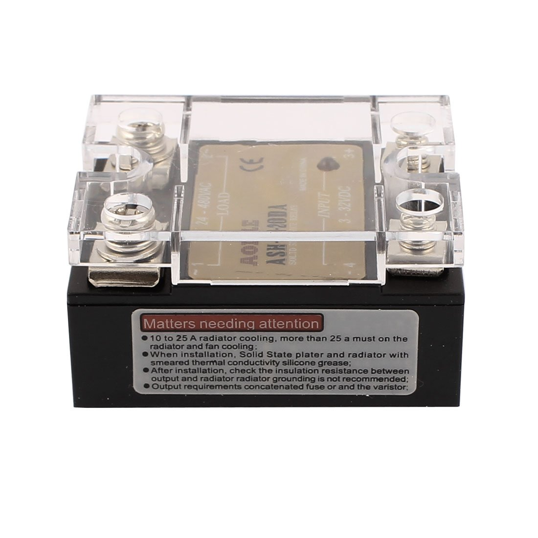 sourcing map ASH-20DA 3-32VDC to 480VAC 20A Single Phase Solid State DC to AC Relay Authorized