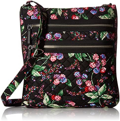 Vera Bradley Iconic Triple Zip Hipster, Signature Cotton