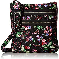 Vera Bradley Triple Zip Hipster, Winter Berry