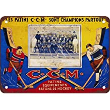1933 Montreal Canadiens Vintage Look Reproduction Metal Signs 12X16 Inches