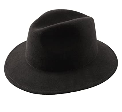 36fb836293acb Classic Italy - Fedora Hat Wool Felt Packable Men Nude Traveller Center  Dent - Size 55