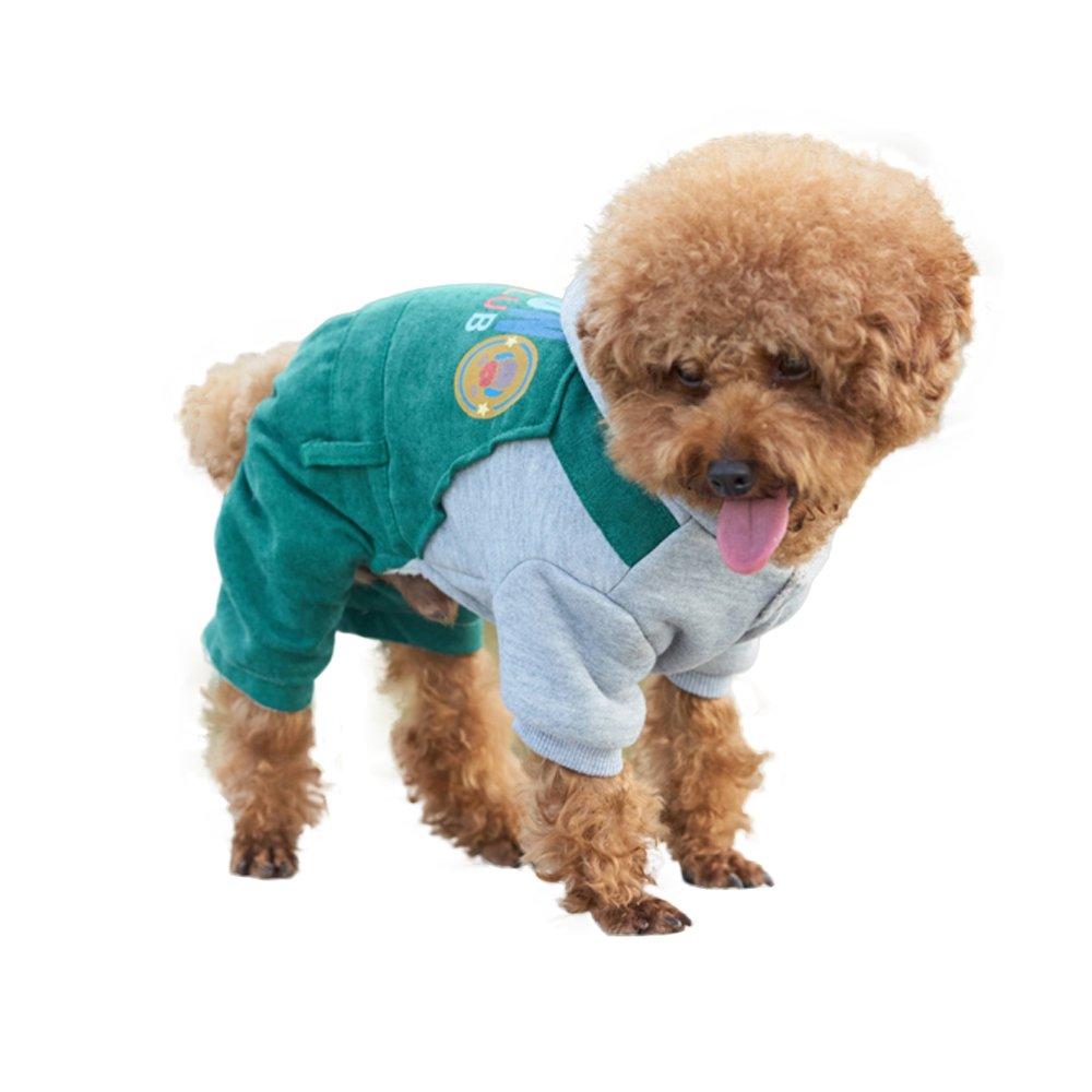 Zhuhaimei,Trajes de vestir abrigos con capucha para perrito pequeño medio grande perros(color:Verde,size:M): Amazon.es: Hogar