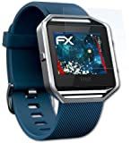 3 x atFoliX Panzerfolie Fitbit Blaze Folie - FX-Shock-Clear ultraklar und stoßabsorbierend