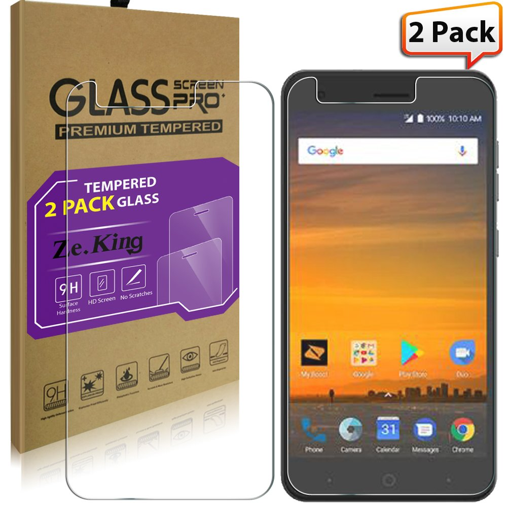 2 Packzte Blade Force N9517 Tempered Glass Screen Xiaomi Redmi Note 5 Note5 Color 25d Full Cover Protector Zte X Z965 Zeking 033mm Edge 9h Hardness Anti