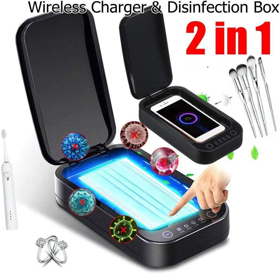 S2Y UV Esterilizador Tel/éfono Caja M/óviles M/áscara Personal Cleaner Desinfecci/ón del gabinete con aromaterapia La Carga inal/ámbrica Esterilizador