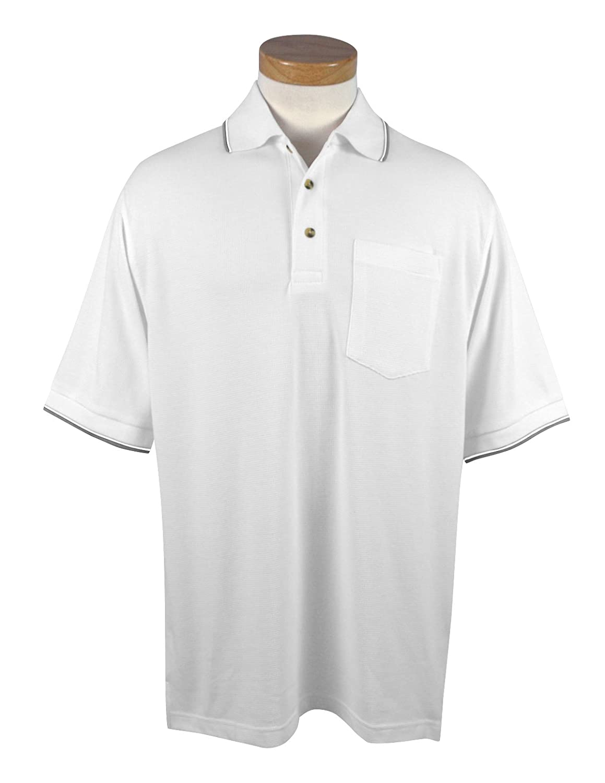 Tri-Mountain Mens 117 Conquest S//S Pocket Polo Shirt
