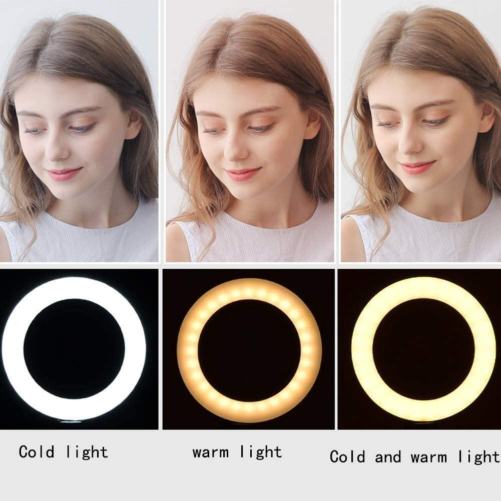 Mobile Phone Live Fill Light Pink Anchor High-Definition Beauty Light Self-Timer Photo Light Soft Anchor Skinny Face-Lift Photography Light Round Floor Lighting Props Photo Artifact Led Camera 0110
