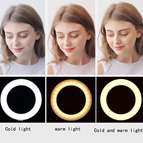 Mobile Phone Live Fill Light Pink Self-Timer High-Definition Beauty Light Skinny Face-Lift Photo Light Soft Anchor Anchor Photography Photo Artifact Round Floor Lighting Props Led Camera Light 0110