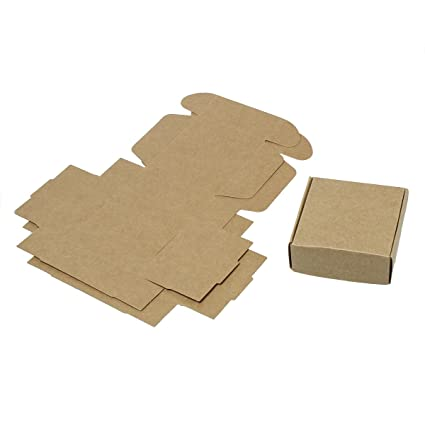 30 Pack Small Kraft Brown Gift Box 3x3x1 Inches
