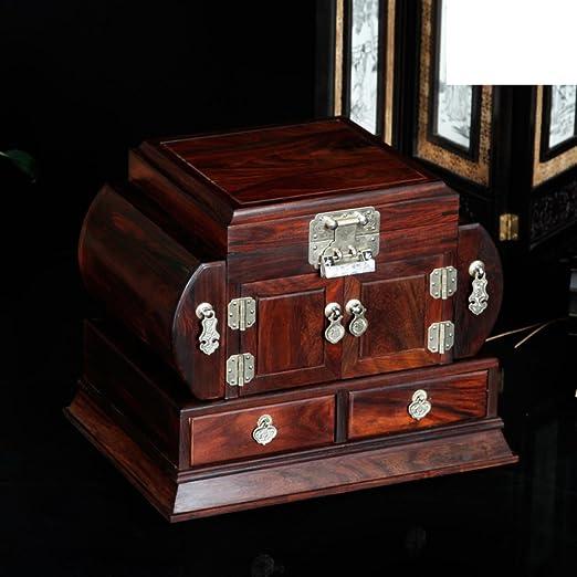 Caja de joyería de Laos rojo palo de rosa madera sólida madera ...