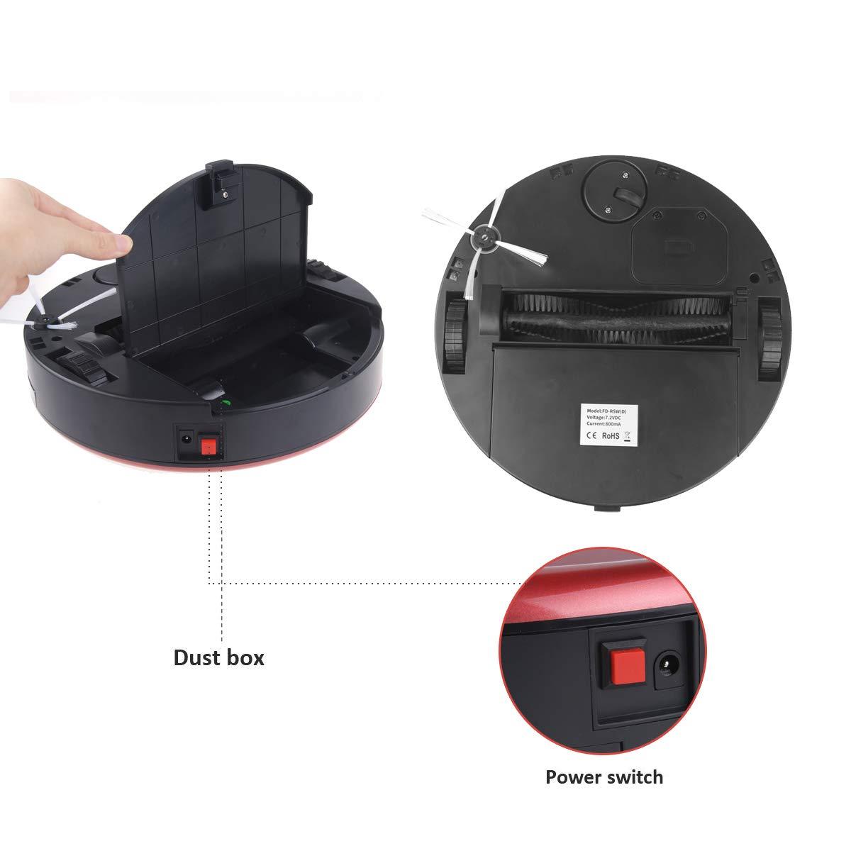 Robot aspirador automático inteligente limpiador balayer alfombra piso regalo gris: Amazon.es: Hogar