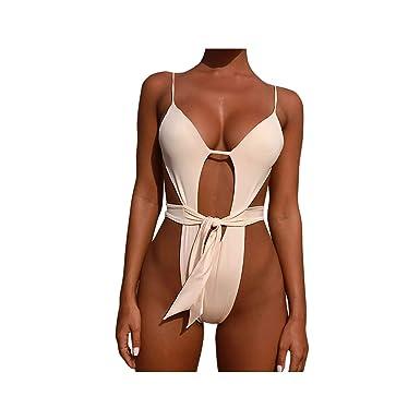 Traje de Baño Mujer EUZeo,Push-up con Cuello en V con Relleno Bra Traje de Baño de Una Pieza Bikini 2019 Sexy Bikini for Women Bañador Mujer Deportivo ...