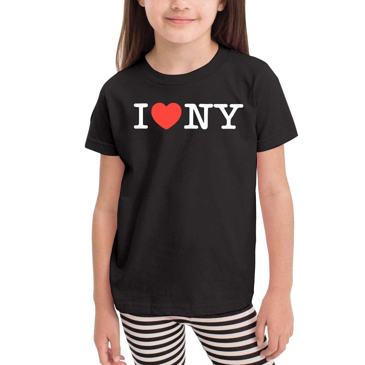 Baby Girls Little Boys I Love NY New York Heart Cotton Short Sleeve Tee Shirt Size 2-6