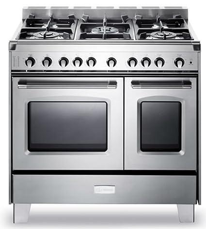 36 Gas Range >> Amazon Com Verona Vclfsgg365dss 36 Classic All Gas Range Double