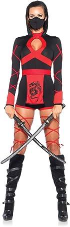 Leg Avenue- Dragón Ninja Mujer, Color negro y rojo, Medium (EUR ...