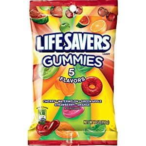 Life Savers, Gummies 5 Flavors Candy Bag, 7 oz