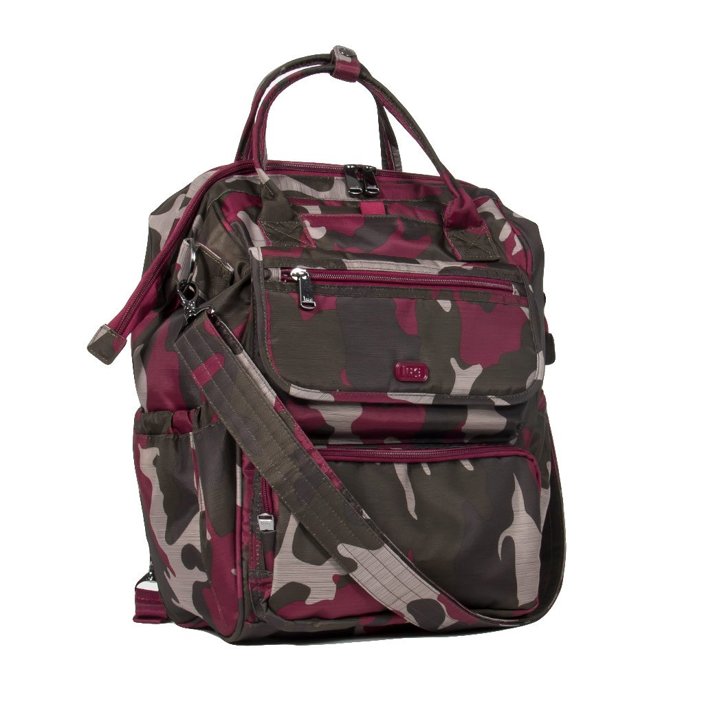 Lug Women's via Travel Tote, Brushed Camo Cranberry, One Size