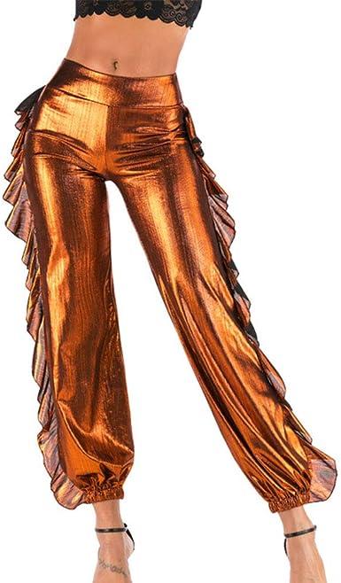 Huateng Pantalones de chándal Casual de diseño Ondulado de Moda ...