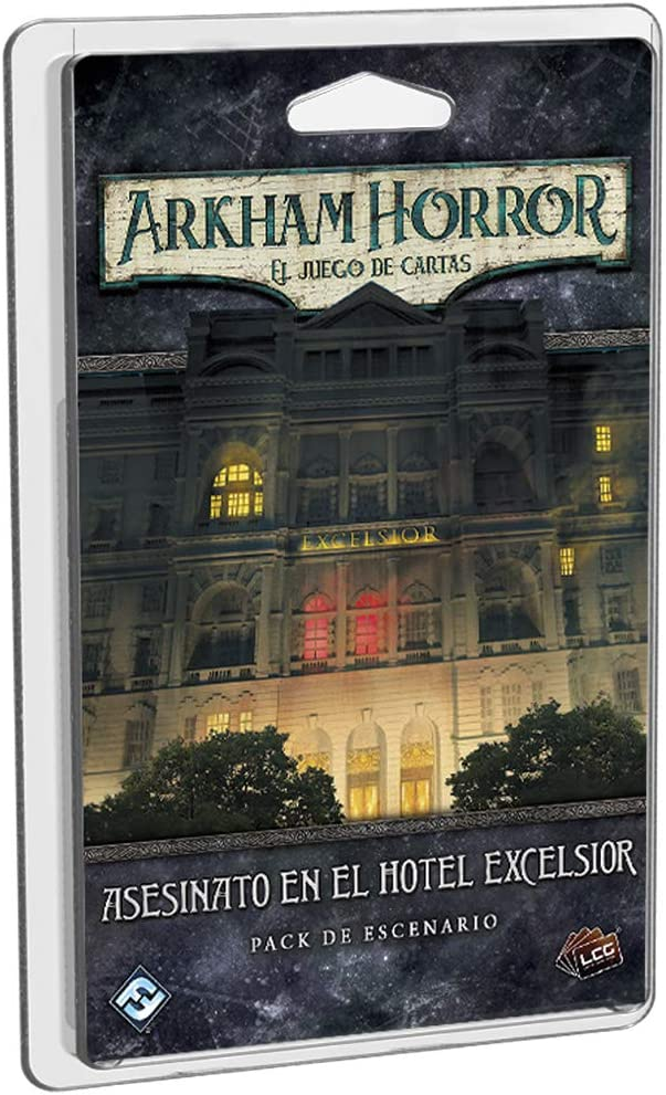 Fantasy Flight Games- Arkham Horro LCG - Asesinato en el Hotel Excelsior, Color (AHC38ES): Amazon.es: Juguetes y juegos