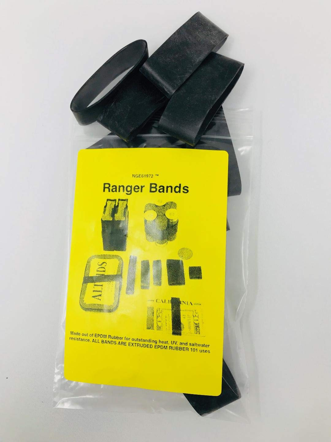 6a60f0933441 Amazon.com  NGE61972 Ranger Bands Large Wide (18 Count) Made from EPDM  Rubber for Survival and Strapping Gear Made in The USA  Sports   Outdoors