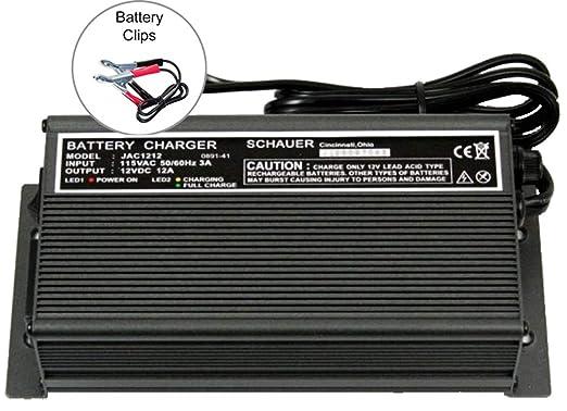 Amazon.com: JAC1212-C Schauer Cargador de batería, 12 V, 12 ...