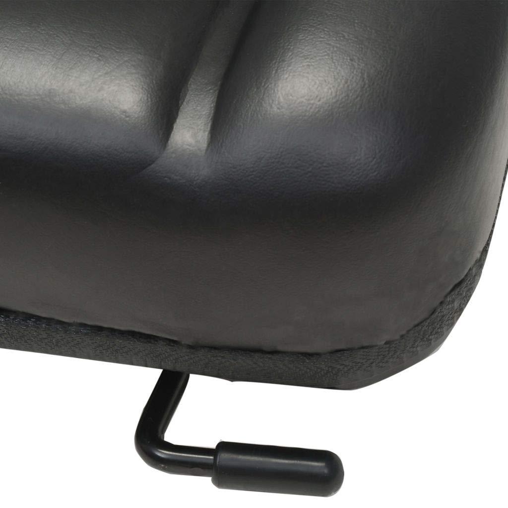 vidaXL Forklift /& Tractor Seat with Adjustable Backrest Black Digger Part