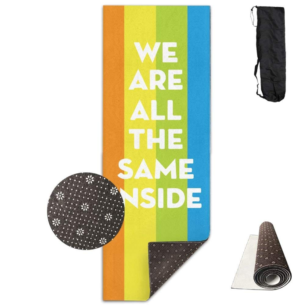 All The Same LGBT Gay Lesbian Deluxe,Yoga Mat Aerobic Exercise Pilates Anti-Slip Gymnastics Mats