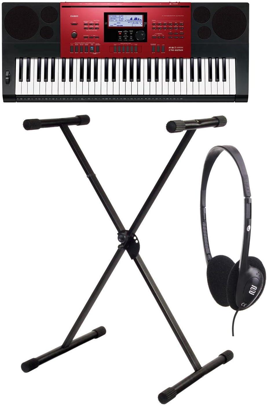 Casio CTK-1100 6250 High Grade de Keyboard Set con soporte y ...