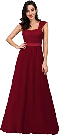 Ever-Pretty Double V-Neck Wrap Long Bridesmaid Dress Cocktail Evening Prom Gowns