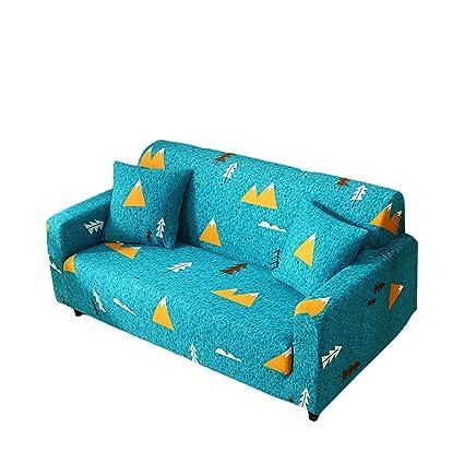 Funda para sofá elástica, antideslizante, estampado de plumas y flores moderno y simple, de 1/2/3/4 plazas, protector para mascotas, Mountain Forest, ...