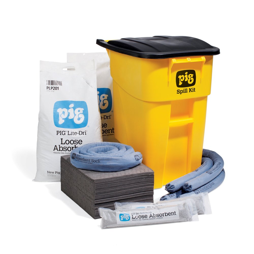 New Pig Spill Kit - High Visibility Mobile Kit - Absorbs up to 37 Gallons - KIT273