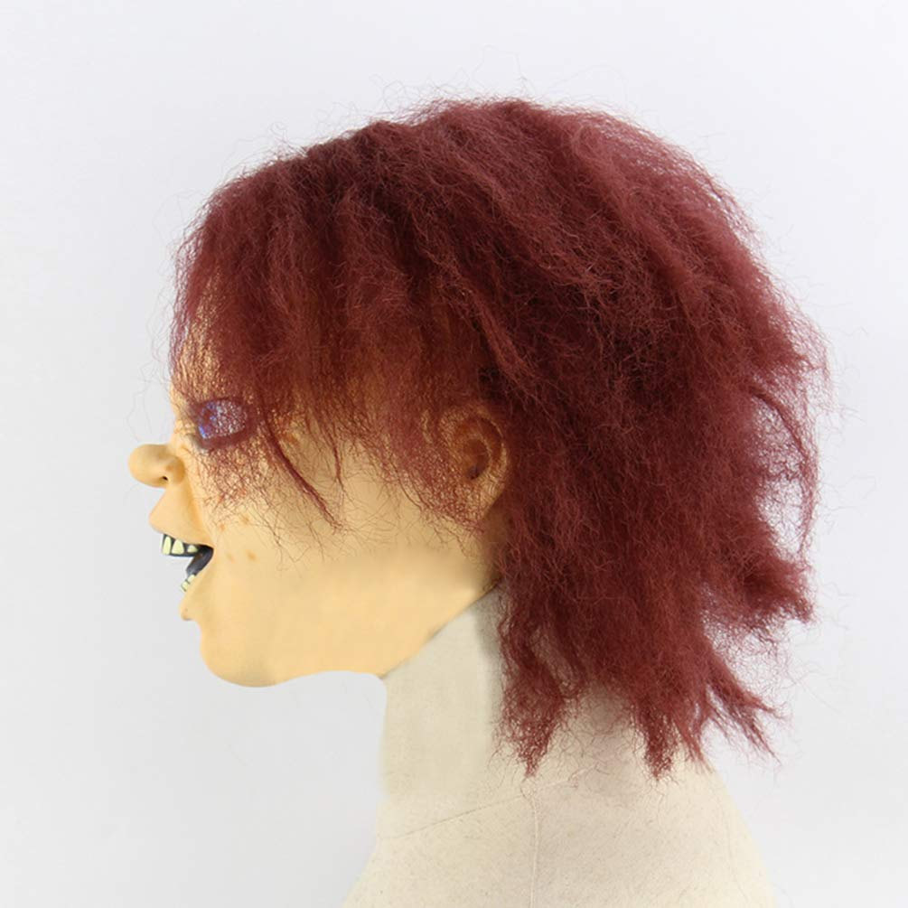 Xinwcanga Máscara De Terror De Halloween Látex con Diseño de Chucky The Killer Doll (Rojo, Talla única): Amazon.es: Ropa y accesorios