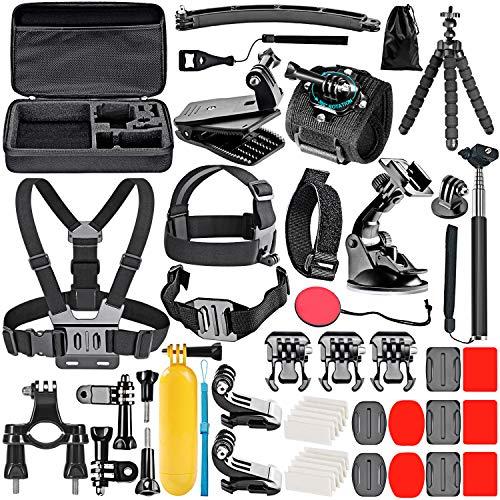 Kit accesorios p/cámara de acción pack 50 Gopro Insta360 Dji
