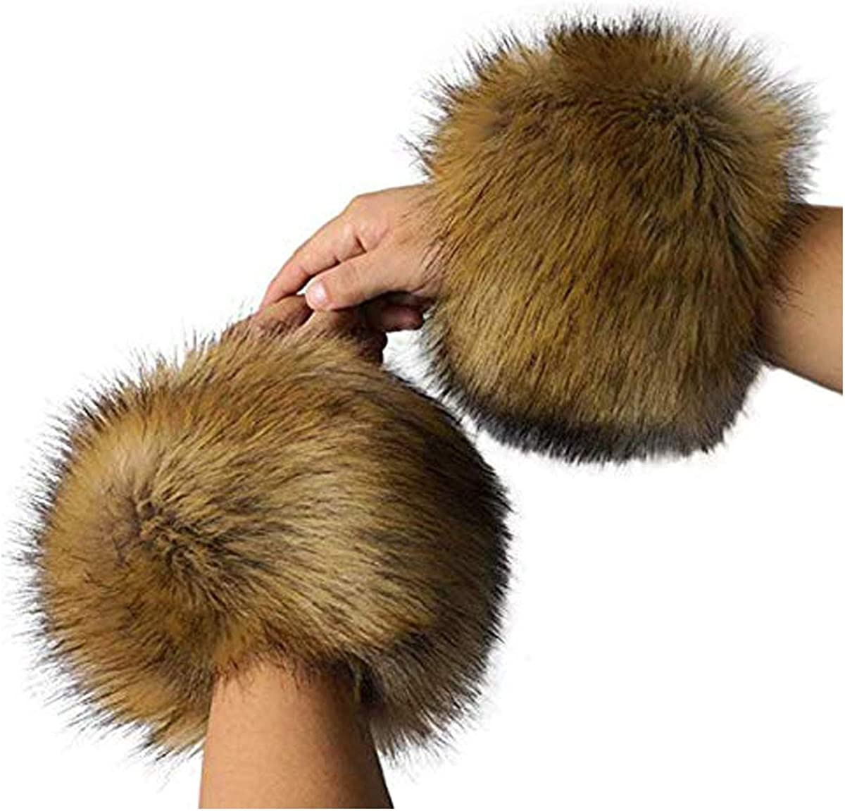 Faux Fur Cuffs Women Furry...