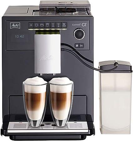 Melitta Caffeo Ci E970-103, Cafetera Molinillo, Café Molido y en Grano, Personalizable, Depósito de Leche, Limpieza Automática, 15 Bares, Negro, 1400 W, 1.8 litros, Plástico: Amazon.es: Hogar