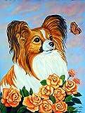 Caroline's Treasures 7246CHF Papillon Flag Canvas, Large, Multicolor For Sale