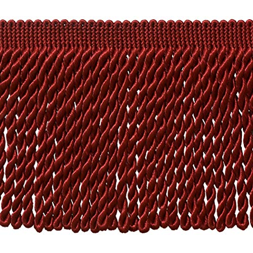 DÉCOPRO 5 Yard Value Pack - 6 Inch Long Cherry RED Bullion Fringe Trim, BFS6 Color: E13 (15 Ft / 4.5 Meters)