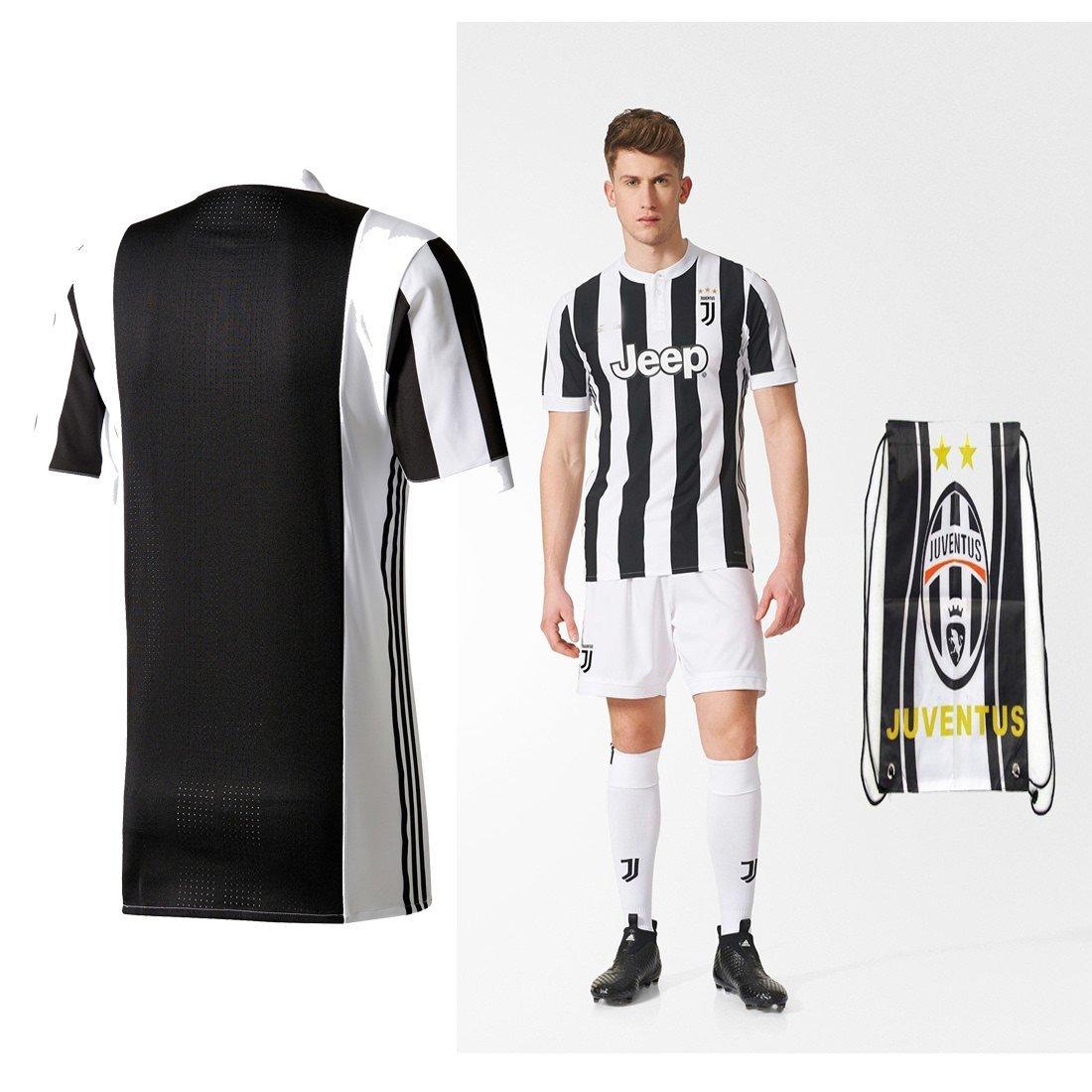 Juventus Paulo Dybala Higuan 2017 2018 17 18 Kid Youth Ages 4 to 12 Yrs Old Home Replica Jersey Kids Kit : Shirt, Short, Socks, Bag