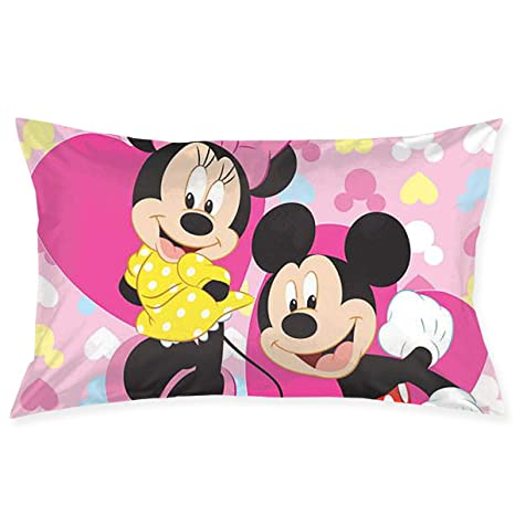 CHLING Fundas de Almohada de Mickey Minnie Mouse, Fundas de ...