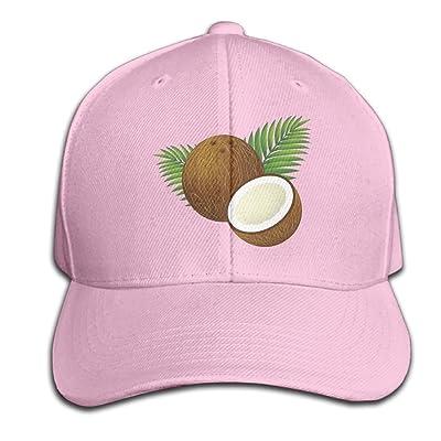 Mr.Roadman Unisex Coconut Cartoon Funny Logo Baseball Hip-hop Cap Vintage Adjustable Hats Cotton Trucker Caps for Women and Men Black,One Size
