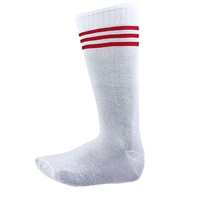 Doinshop Hot Unisex Striped Soccer Socks in Tube Over the Calf Stockings
