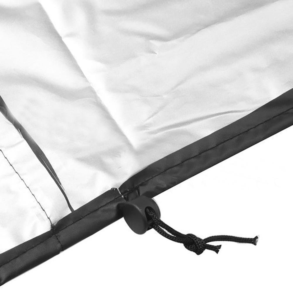 Polvere per mobili Copertura Impermeabile Anti-UV Tessuto Impermeabile Oxford Traspirante Wateralone Copertura per Chaise Longue Coperture per lettini da Giardino Nera