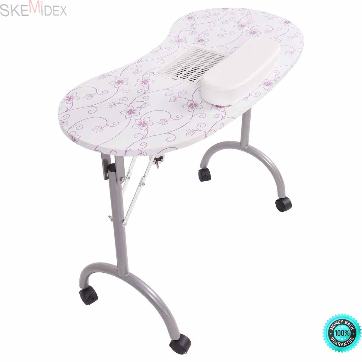 SKEMiDEX---Folding Portable Vented Manicure Table Nail Desk Salon Spa With Fan & Carry Bag Our brand new and portable Nail Care Desk & Manicure Table which is folding and comes with a sturdy carrying