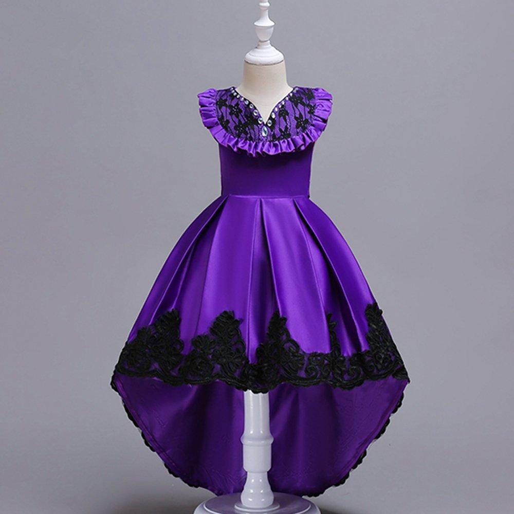 Yu Años Li Púrpura Elegante Vestido de Boda Fiesta Fiesta Niña para ...