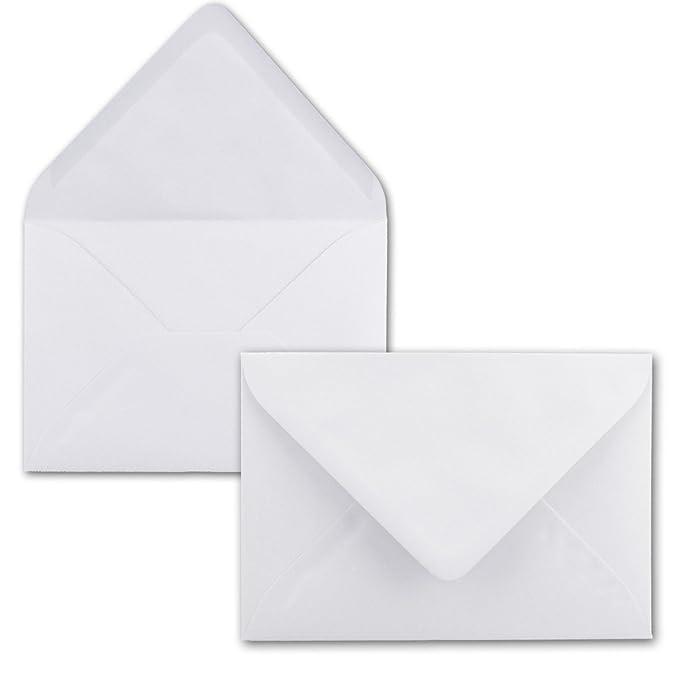 100x Briefumschl/äge B6 17,5 x 12,5 cm Hellgrau 120 g//m/² Einladungen Gru/ß-Karten F/ür Hochzeit Nassklebung mit spitzer Klappe